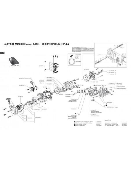 Juntas base cilindro minimoto polini