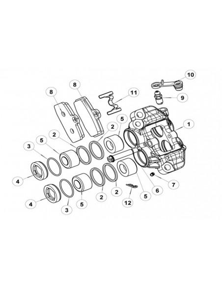 Kit reparacion toricas y retenes pinza formula